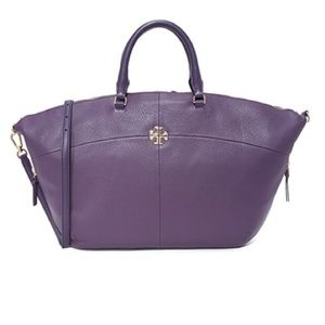 Tory Burch Purple Ivy Slouchy Satchel